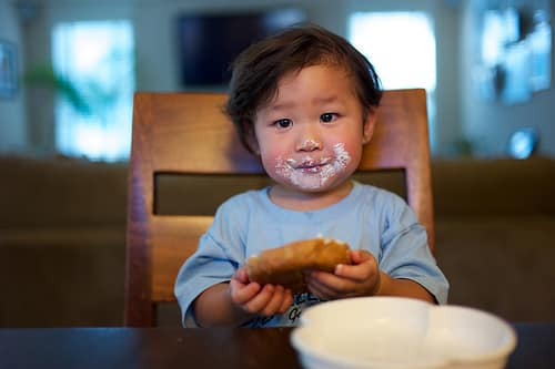 toddler food face