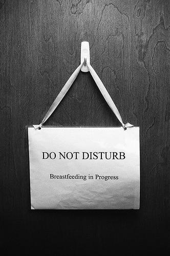 breastfeeding in progress sign