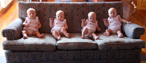 Four Noras on the Sofa