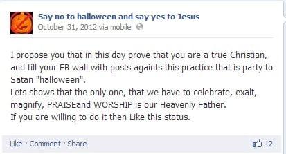 say no to halloween facebook