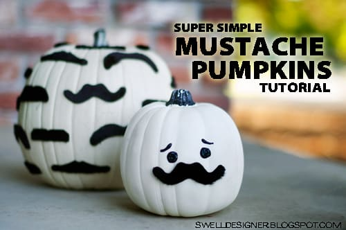 super-simple-mustache-pumpkins