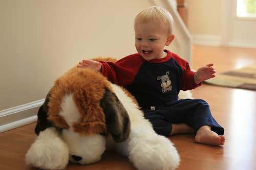 toddler stuffed dog