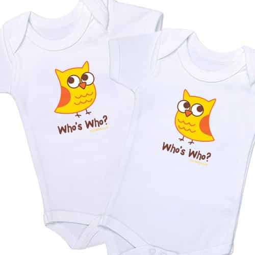 whoswho twin onesies