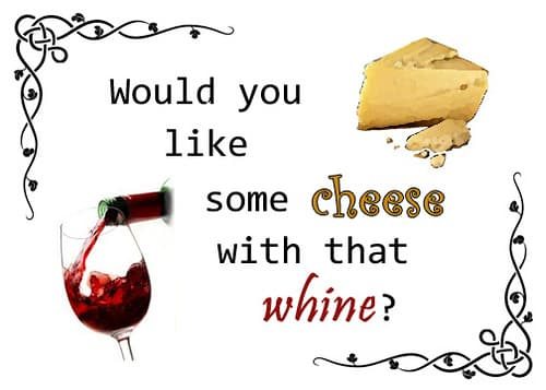 cheese with whine