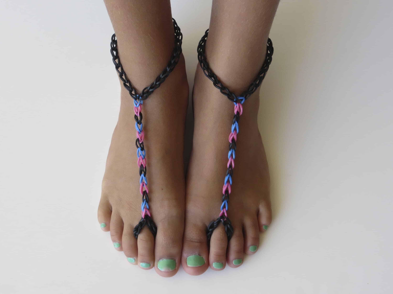 Rainbow loom bands плетение