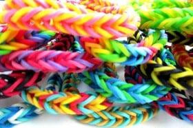 rainbow loom bracelet black and orange-f76713