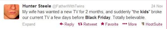 black friday tweets