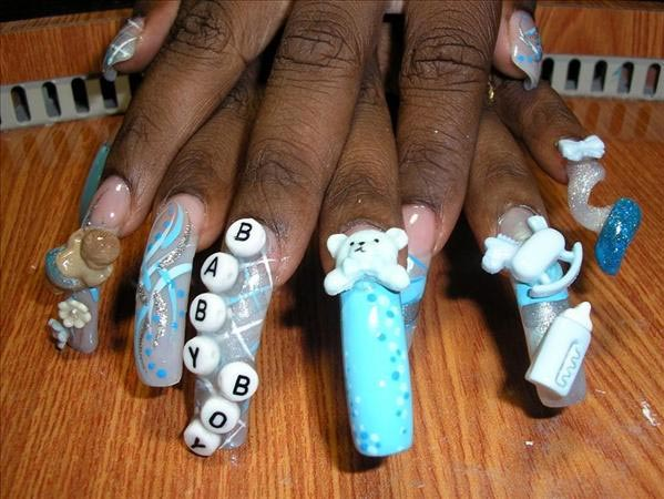 10 Totally Wild Baby Shower Manicures