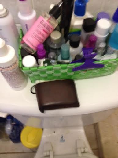husband clutter OTHER bathroom