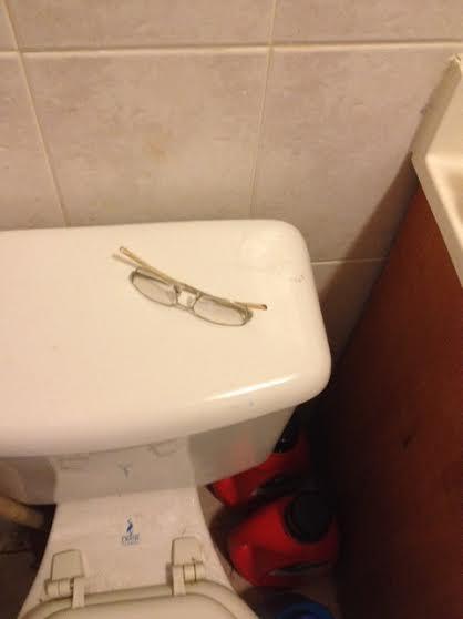 husband clutter bathroom 1