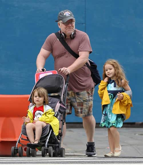 Philip Seymour Hoffman out with his family in West Village, NYC