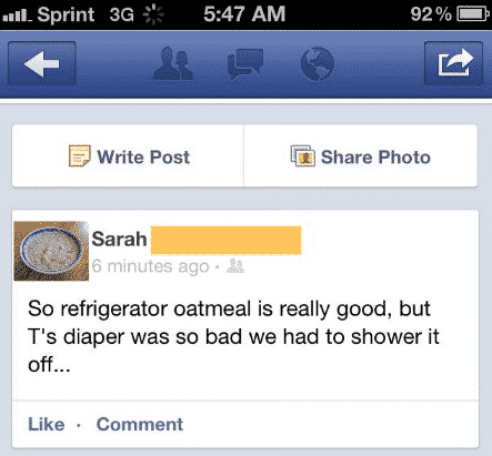 1. oatmeal