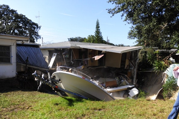 Large Sink Hole Threatens To Swallow House In Southern Florida