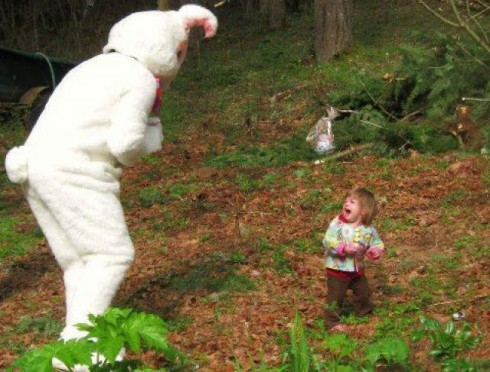 12 Photos That Prove Making Your Child Sit On The Easter Bunny's Lap Is A Horrible Idea