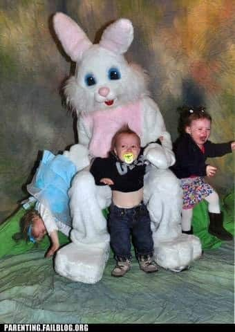 easter bunny photo fails don't do this to your children