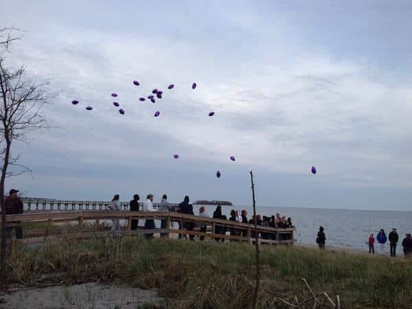 Mare Sanchez balloon release