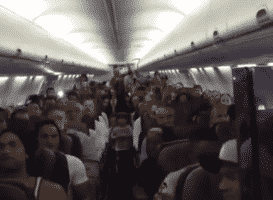 Cast Of The Lion King Performs On Flight