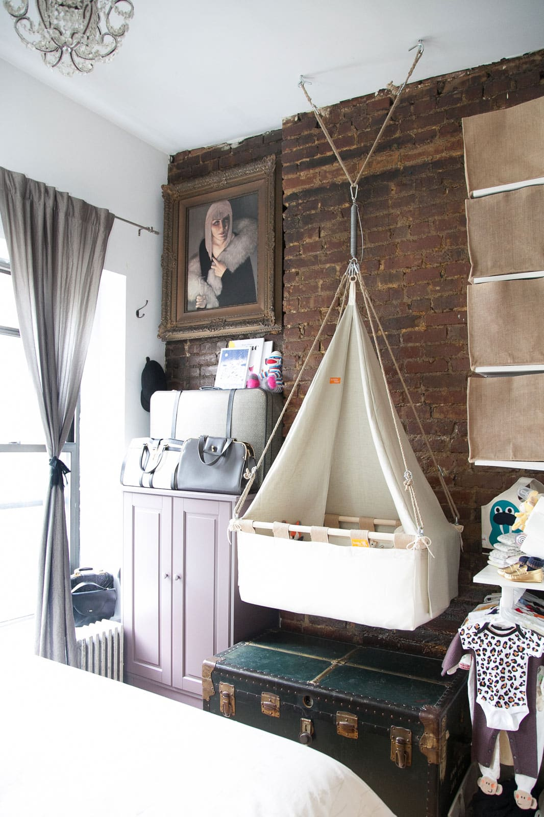 Baby bed in parents room -  Via Refinery29