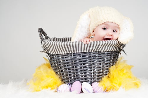 Nice try but your baby doesnt need an easter basket shutterstock99412619 negle Image collections