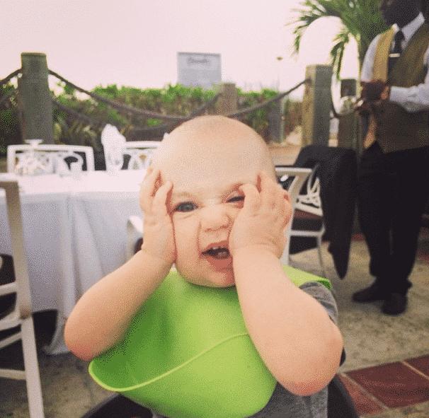 Max playing peekaboo