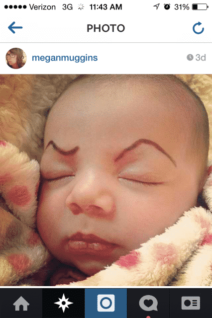 how to draw eyebrows on baby