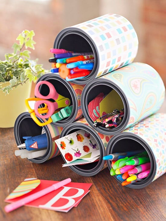 10 formula can crafts for all those empty cans for Crafts using recycled materials