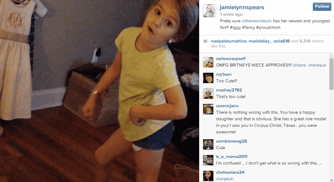 jamie lynn spears daughter dancing to iggy azaela