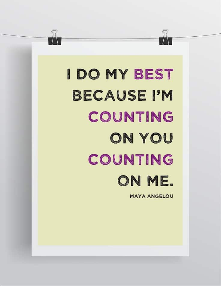 Maya Angelou Quote I Do My Best