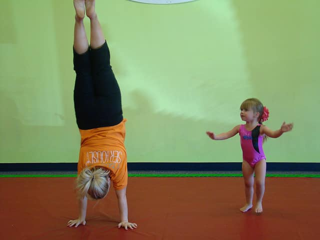 mommy and me gymnastics class