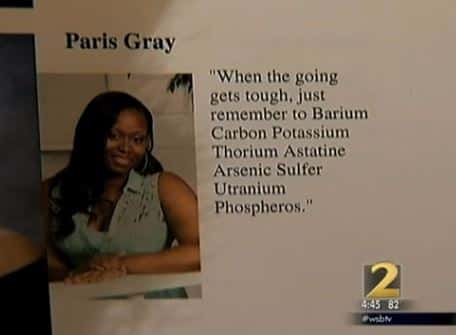 High school yearbook periodic table quote prank is legendary it took me a while to figure this out because im not too science y so tell me if you get it right away a georgia high school senior looking perfectly urtaz Image collections