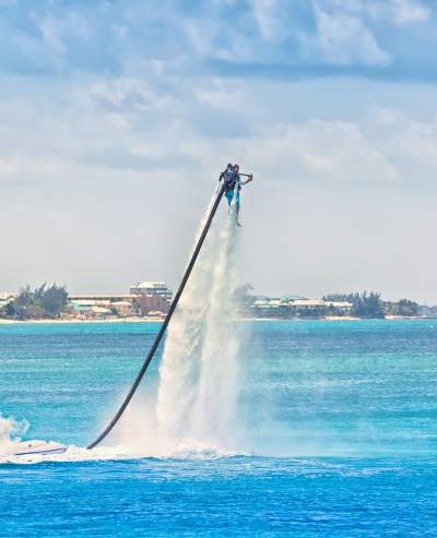 water jet pack ride