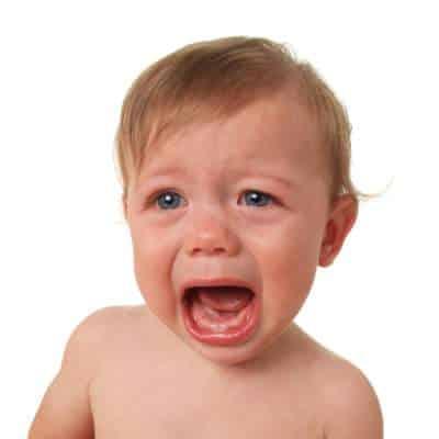 angry baby crying