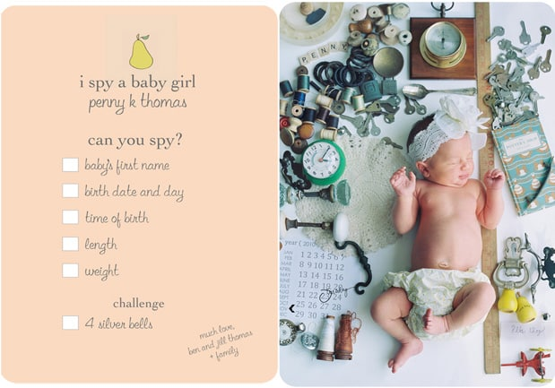 10 Legitimately Cool Birth Announcement Ideas – New Baby Born Announcement