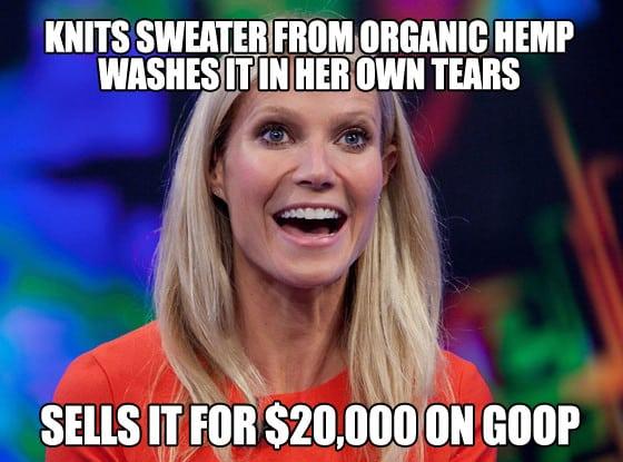 gwyneth Paltrow is a douche meme