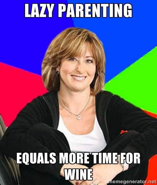 lazy parenting suburban mom