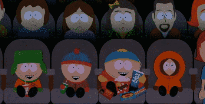 south park movie boys in theater