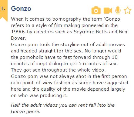 Gonzo Sex talk