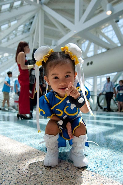kids in cosplay