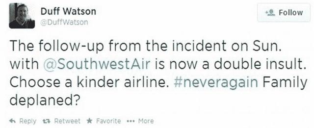duffwatson Southwest Airlines tweet 2