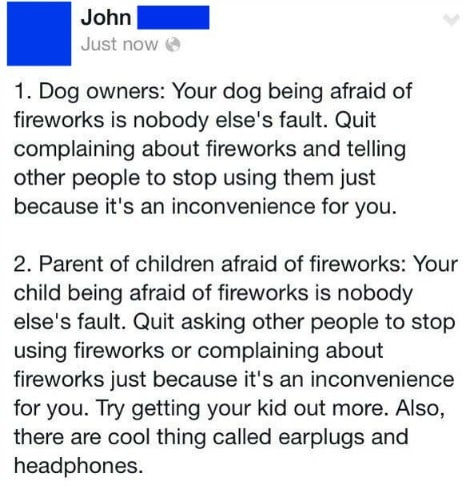 STFU Parents: Parents Who Get Explosively Angry About Fourth Of July Fireworks Need To Chill