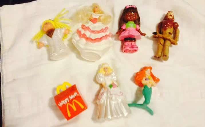 old school kids meal toys