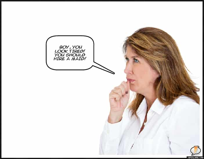 woman in questioning pose comic