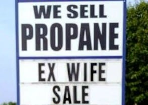 ex wife sale sign