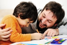 father-and-kindergarten-son