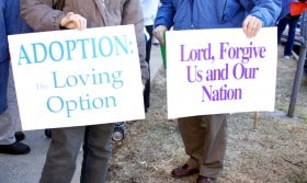 anti-abortion protest signs