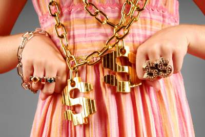 spoiled child with bling