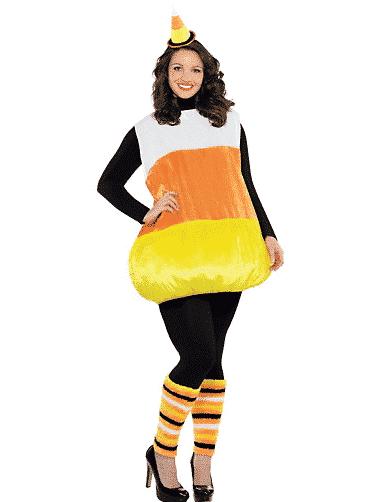 Plus-sized candy corn costume