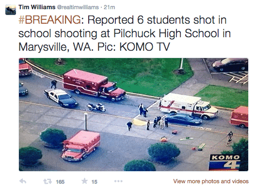 It's Happened Again - School Shooting Reported At Washington High School