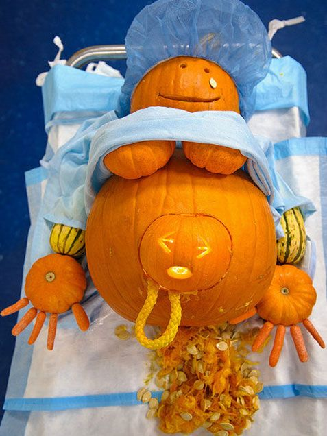 8 Pumpkins Giving Birth Because Halloween Isn T Horrifying