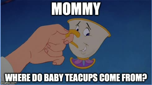 beauty in the beast chip baby teacup